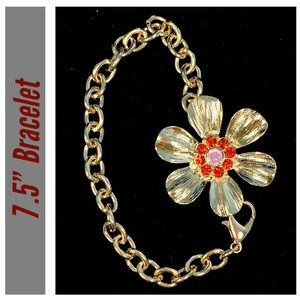 Express Gold-tone Flower Bracelet